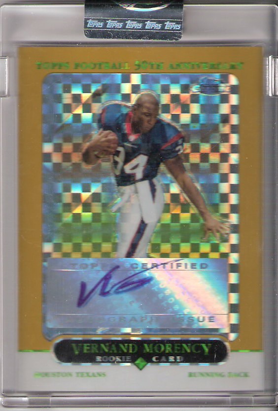 2005 Topps Chrome Gold Xfractors #185 Vernand Morency AU