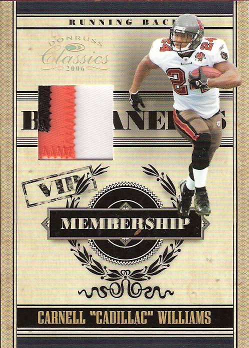2006 Donruss Classics Membership VIP Jerseys Prime #6 Cadillac Williams