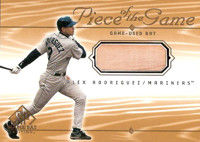 2001 SP Game Bat Edition Piece of the Game #AR Alex Rodriguez
