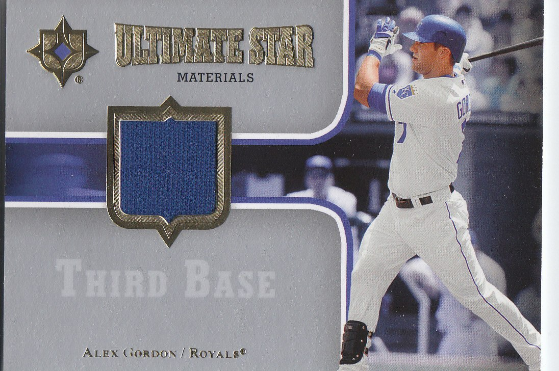 2007 Ultimate Collection Ultimate Star Materials #AG2 Alex Gordon