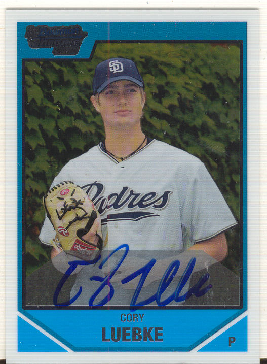 2007 Bowman Chrome Draft Draft Picks #BDPP120 Cory Luebke AU
