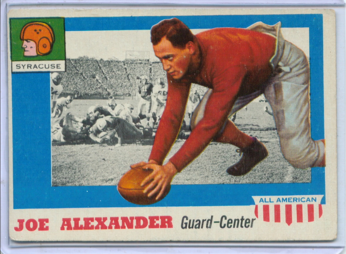 1955 Topps All American #41 Joseph Alexander SP RC