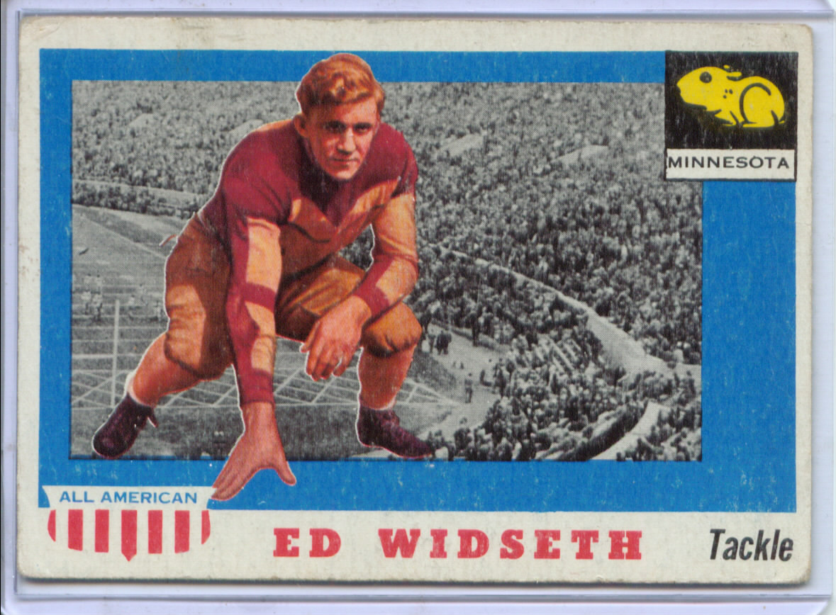 1955 Topps All American #48 Ed Widseth RC
