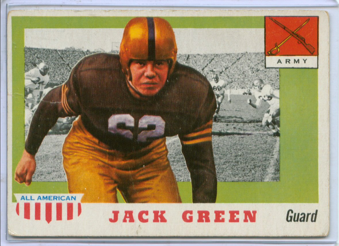 1955 Topps All American #53 John F. Green RC