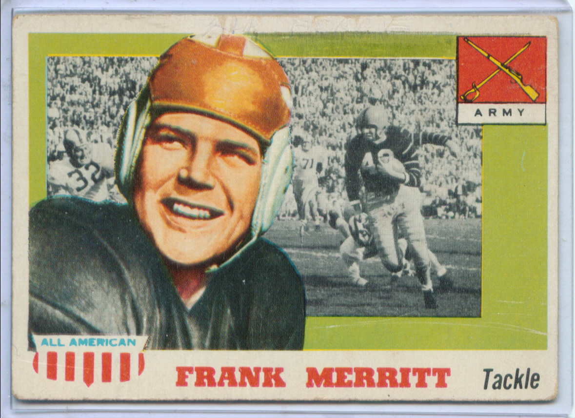1955 Topps All American #55 Frank Merritt SP RC