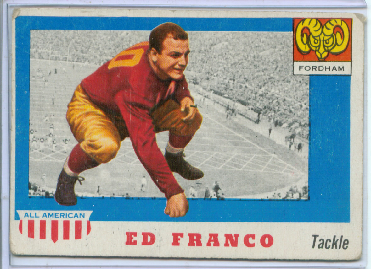 1955 Topps All American #58 Ed Franco RC