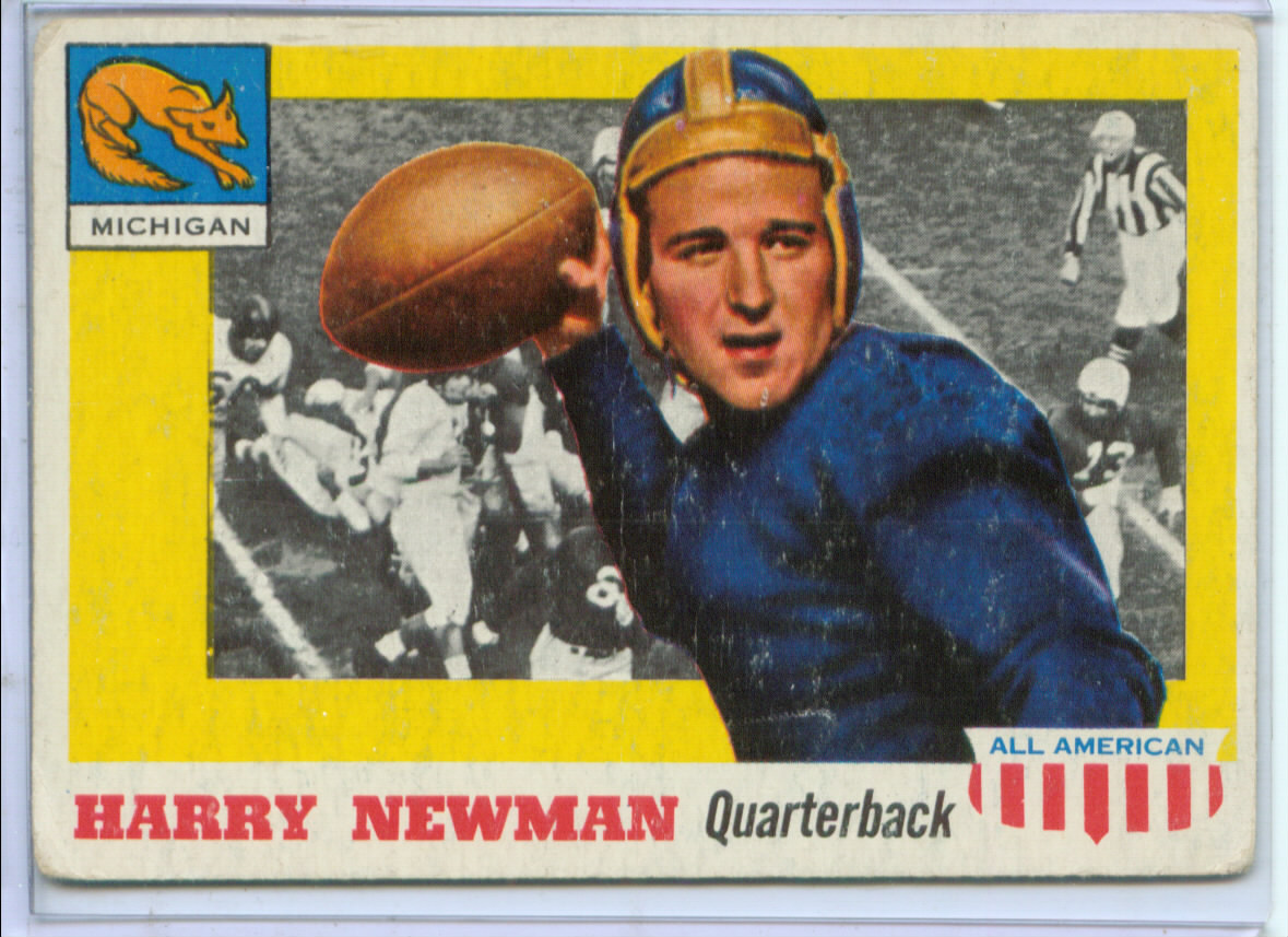 1955 Topps All American #62 Harry Newman RC