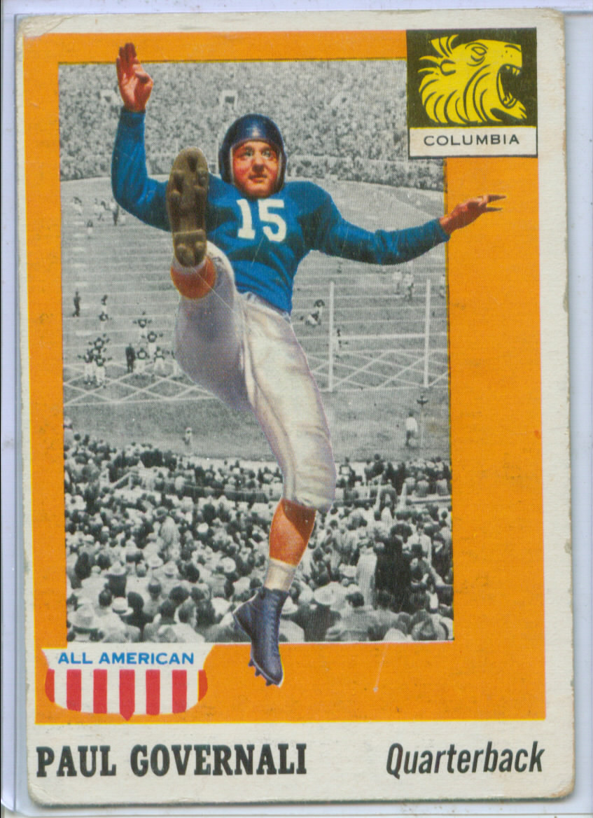 1955 Topps All American #73 Paul Governali RC