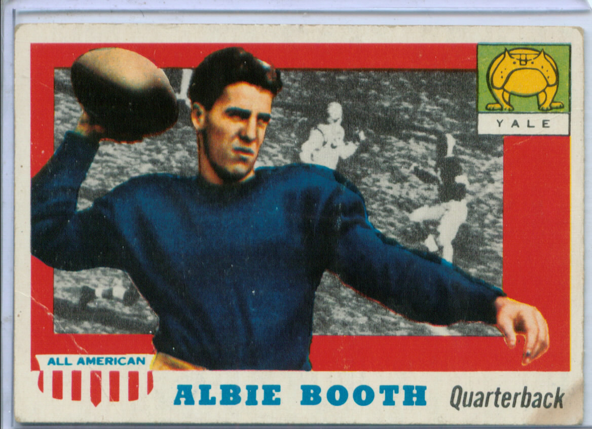 1955 Topps All American #86 Albie Booth SP RC