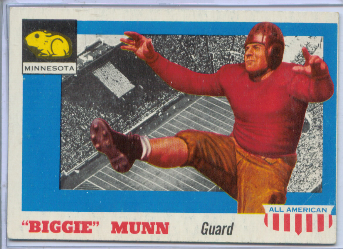 1955 Topps All American #92 Biggie Munn RC
