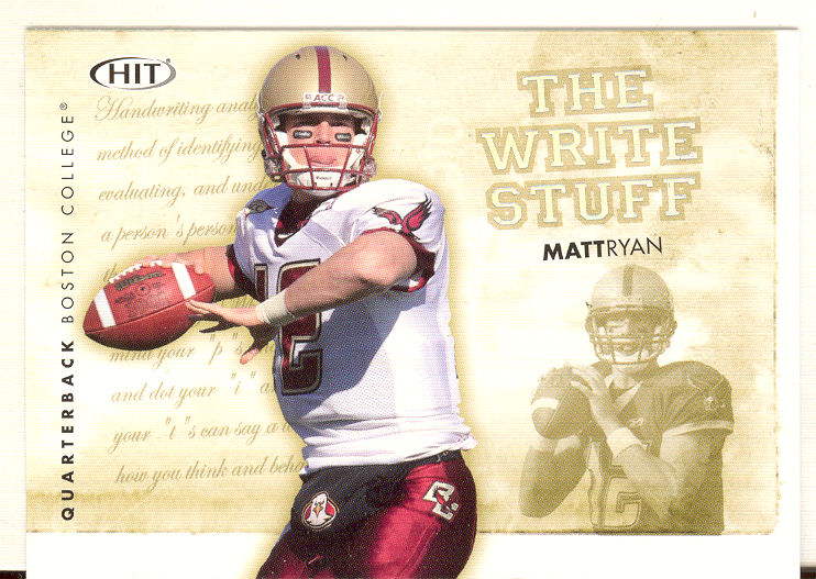 2008 SAGE HIT Write Stuff #WS9 Matt Ryan