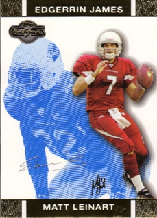 2007 Topps Co-Signers Changing Faces Gold Blue #7A Matt Leinart/Edgerrin James