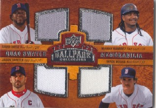 2008 Upper Deck Ballpark Collection #229 David Ortiz/Manny Ramirez/Jason Varitek/Wade Boggs