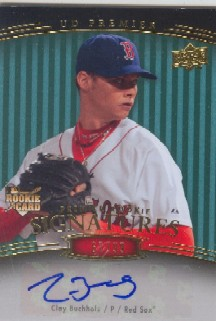 2008 Upper Deck Premier Blue #209 Clay Buchholz AU/99
