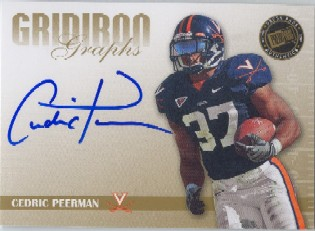 2009 Press Pass SE Gridiron Graphs Gold #GGCP Cedric Peerman