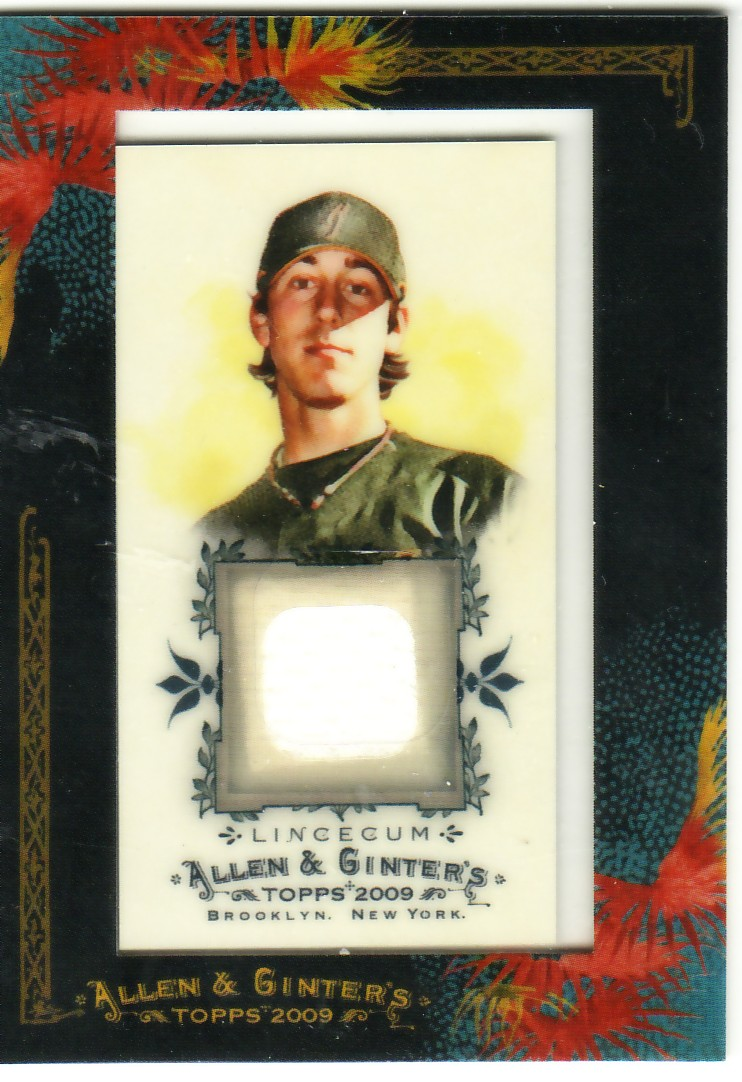 2009 Topps Allen and Ginter Relics #TL Tim Lincecum Jsy D