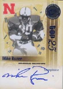 2008 Press Pass Legends Bowl Edition Top 25 Autographs Sapphire #MR Mike Rozier/84