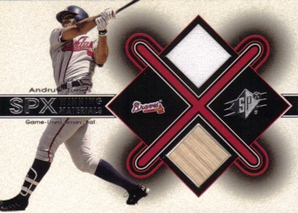 2001 SPx Winning Materials Bat-Jersey #AJ2 Andruw Jones