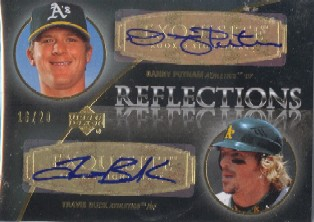 2007 Exquisite Collection Rookie Signatures Reflections Autographs Gold #PB Danny Putnam/Travis Buck/20