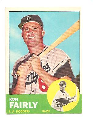 1963 Topps #105 Ron Fairly