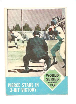 1963 Topps #147 World Series Game 6/Billy Pierce