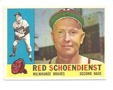 1960 Topps #335 Red Schoendienst