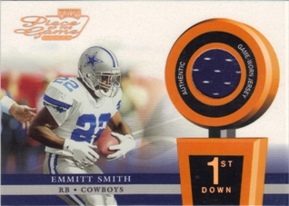2002 Playoff Piece of the Game Materials 1st Down #20 Emmitt Smith