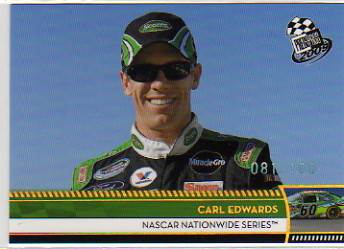 2009 Press Pass Gold Holofoil #160 Carl Edwards NNS
