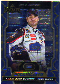 2009 Press Pass Stealth #74B Jimmie Johnson S VAR/w/hat and helmet