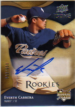 2009 Upper Deck Icons #137 Everth Cabrera AU/600