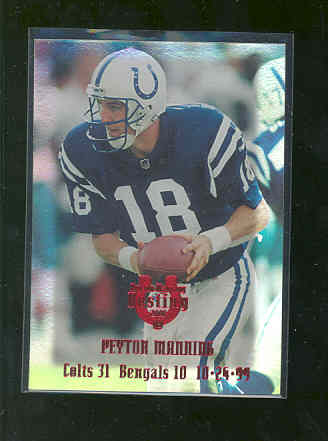 2000 Collector's Edge Peyton Manning Destiny Red Holofoil 25 #PM22 Peyton Manning