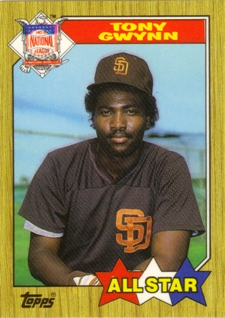 1987 Topps Tiffany #599 Tony Gwynn AS