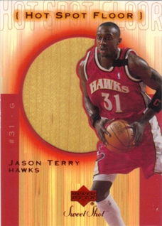 2001-02 Sweet Shot Hot Spot Floor #JTF Jason Terry