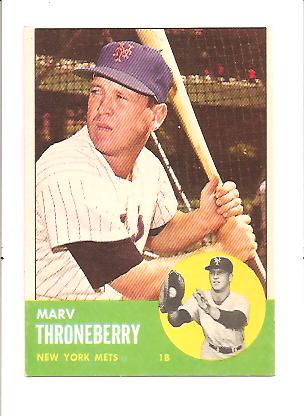 1963 Topps #78 Marv Throneberry