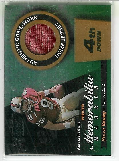 2000 Leaf Limited Piece of the Game Previews #SY8R Steve Young