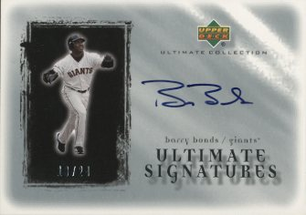 2001 Ultimate Collection Signatures Silver #BAB Barry Bonds