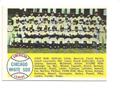 1958 Topps #256 Chicago White Sox TC