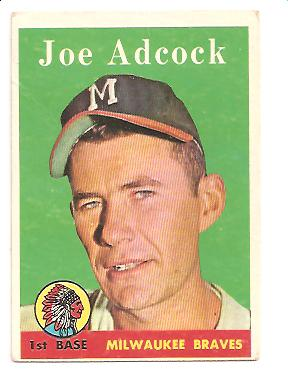 1958 Topps #325 Joe Adcock