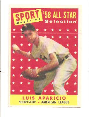 1958 Topps #483 Luis Aparicio AS