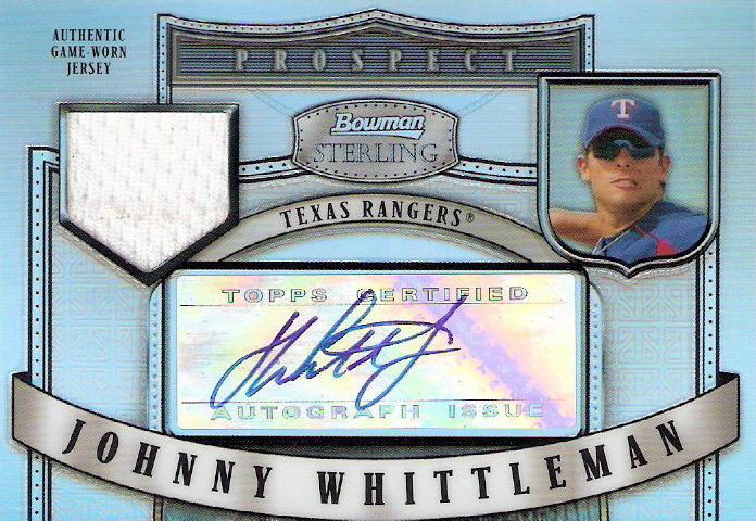 2006 Bowman Sterling Prospects Refractors #JW Johnny Whittleman AU