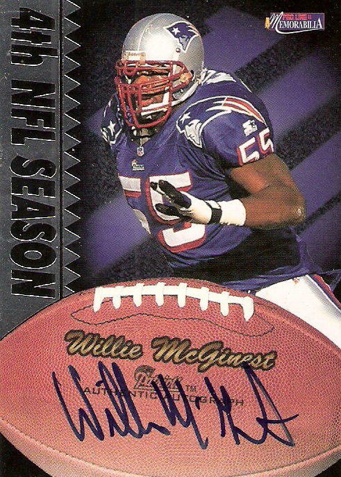 1997 Pro Line Memorabilia Veteran Autographs #4 Willie McGinest