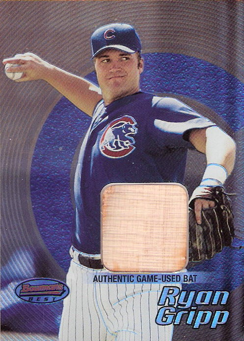 2002 Bowman's Best #96 Ryan Gripp Bat RC