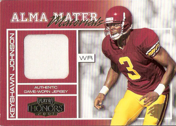 2001 Playoff Honors Alma Mater Materials #AM10 Keyshawn Johnson