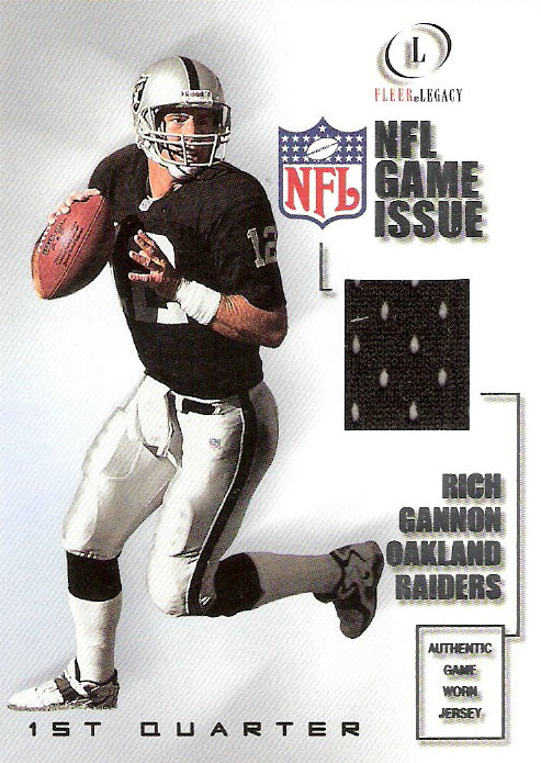 2001 Fleer Legacy Game Issue 1st Quarter #RG Rich Gannon