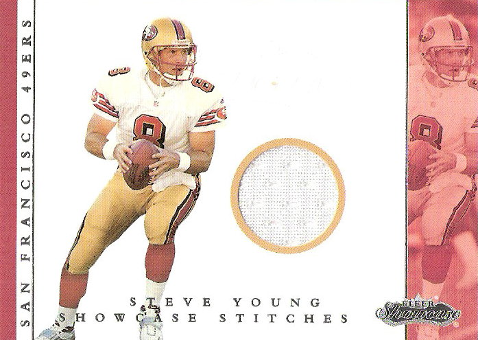 2001 Fleer Showcase Stitches #17 Steve Young