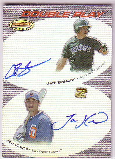 2004 Bowman's Best Double Play Autographs #SK Jeff Salazar/Jon Knott