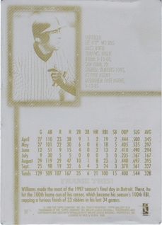1998 Topps Gallery Original Printing Plates #85 Bernie Williams