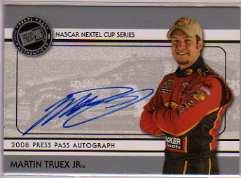 2008 Press Pass Autographs #41 Martin Truex Jr. NC P/E