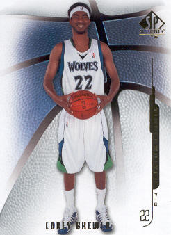 2008-09 SP Authentic #8 Corey Brewer