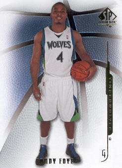 2008-09 SP Authentic #9 Randy Foye